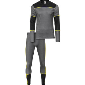 Craft Baselayer Set Men Dark Grey Melange/Black